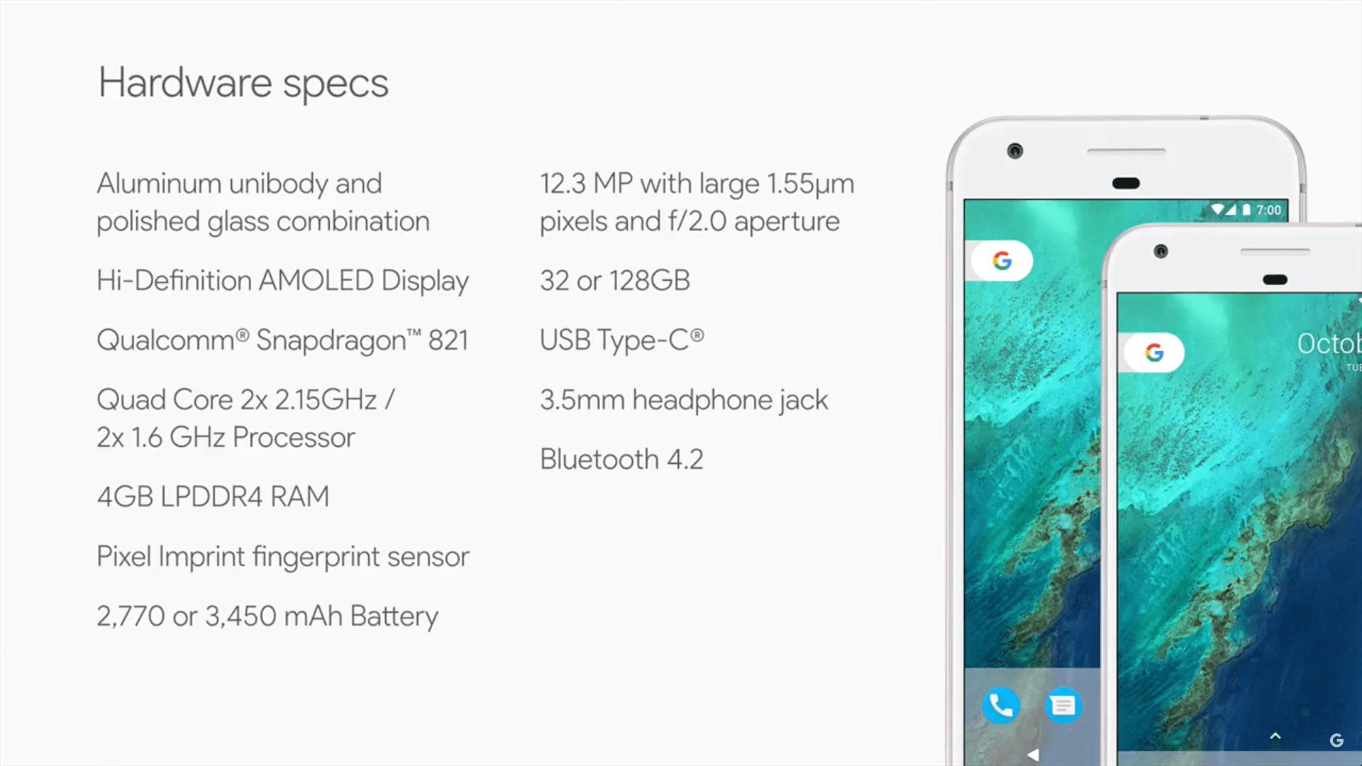 GooglePixelSpecs