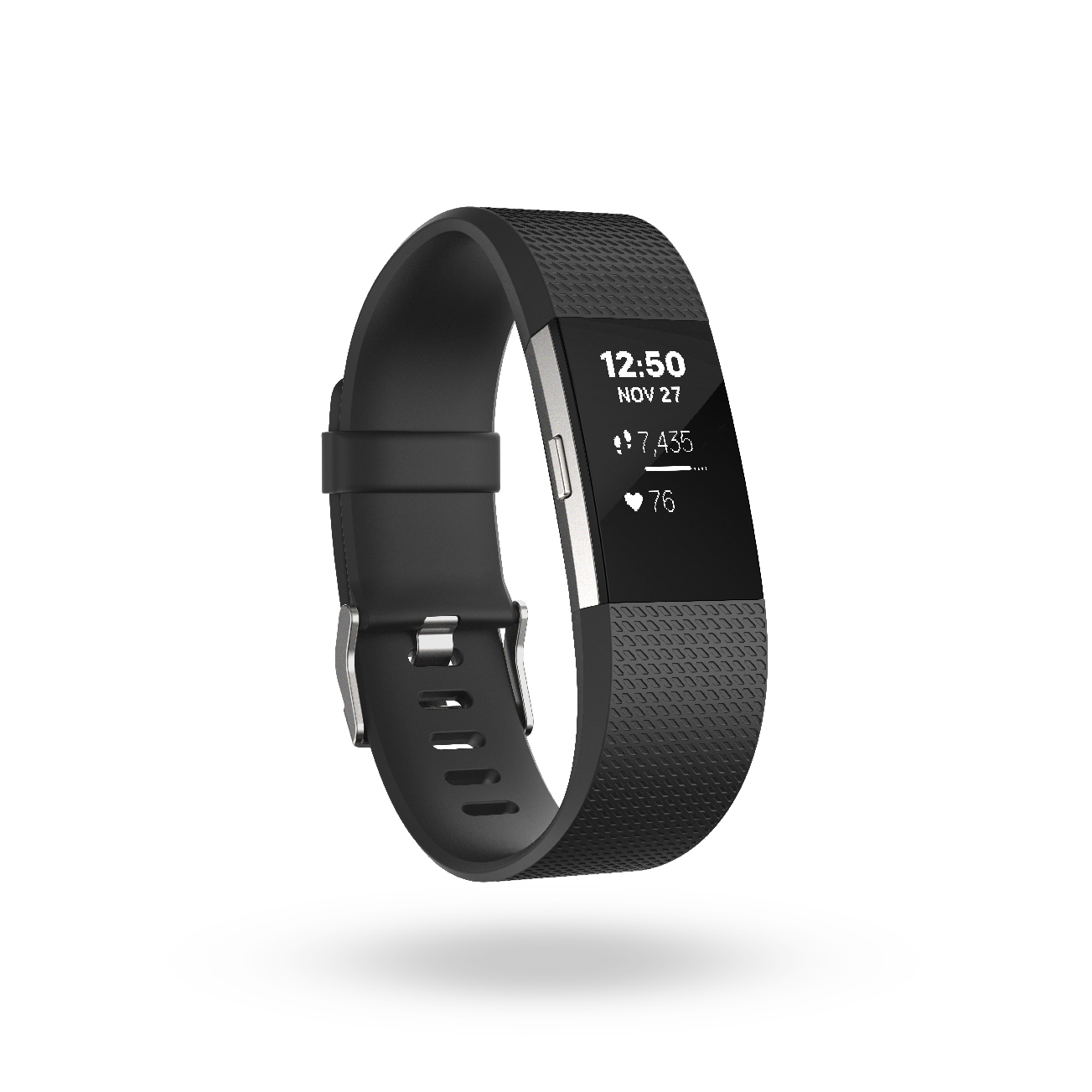 Fitbit Charge 2_Black_Clock_Steps