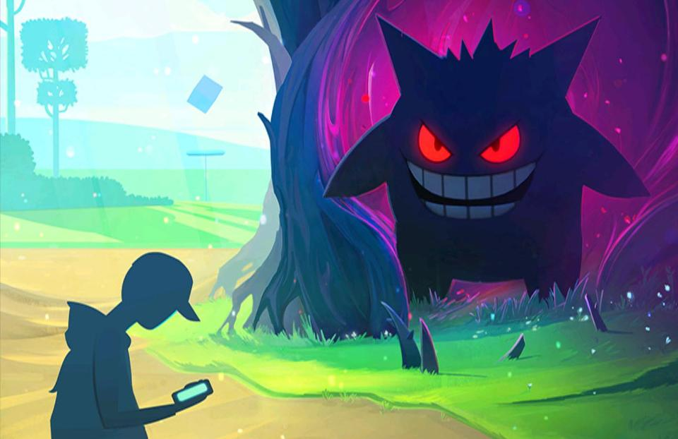 Pokémon Go's loading screen during the Halloween event.