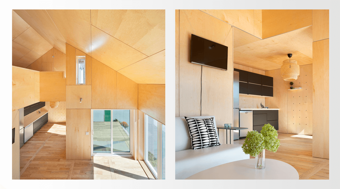 The ZeroHouse was designed with an organic palette of structural, insulation and interior cladding materials.