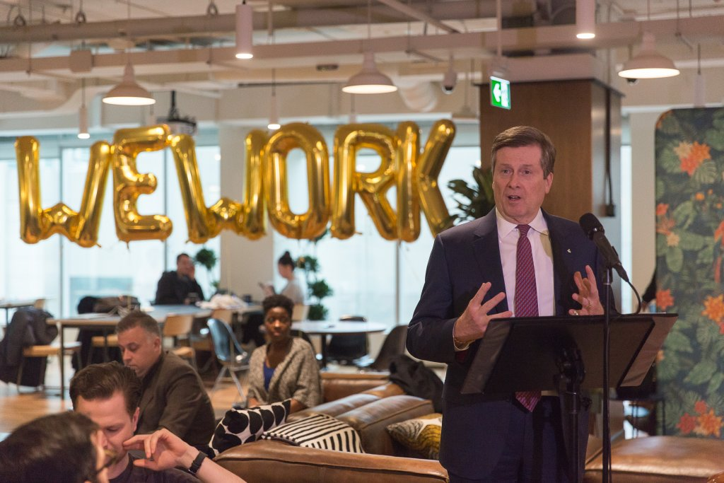 Mayor Tory WeWork 3